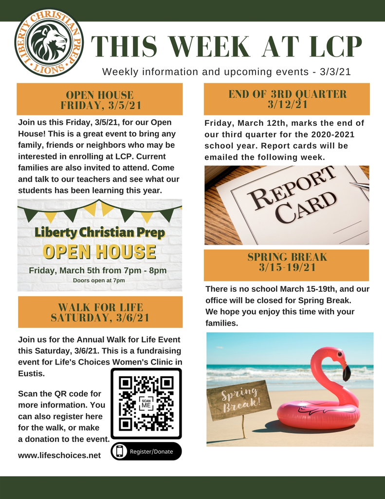 This week at LCP , 3/3/21