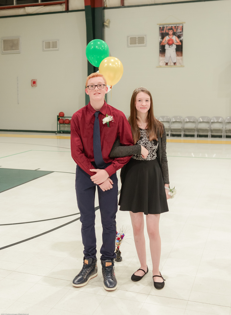 8th Grade Prince and Princess: Asher Elrod and Alexis Wilson