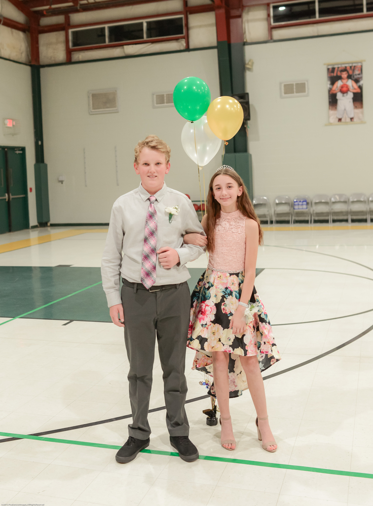 6th Grade Prince and Princess: Jace Carlson and Katelyn Brewer